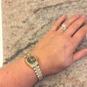 Seiko Jewelry - Black and gold watch